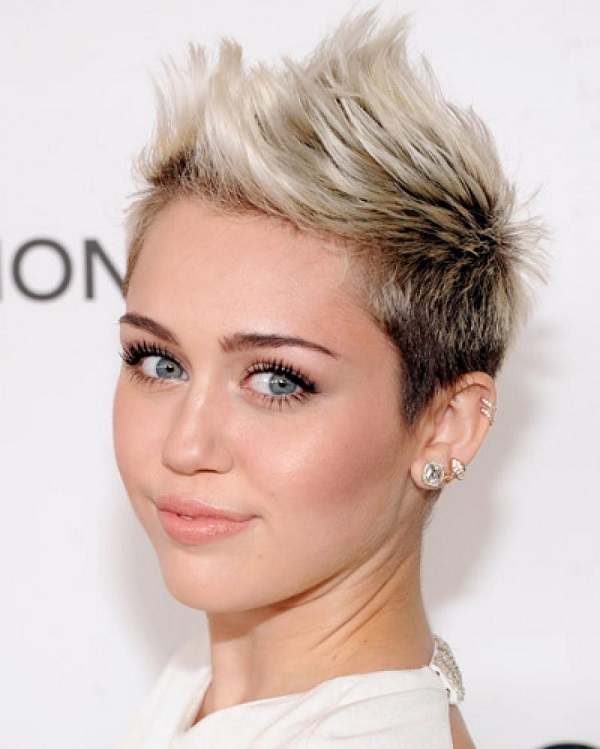 Spiked Punk Rock Hairstyle on Miley Cyrus