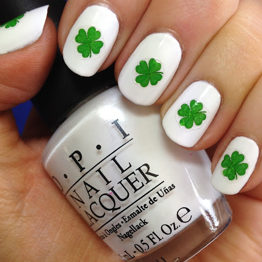 Nail Design With Shamrock Stickers - Interesting St. Patrick's Day Nail Designs That You Can Copy