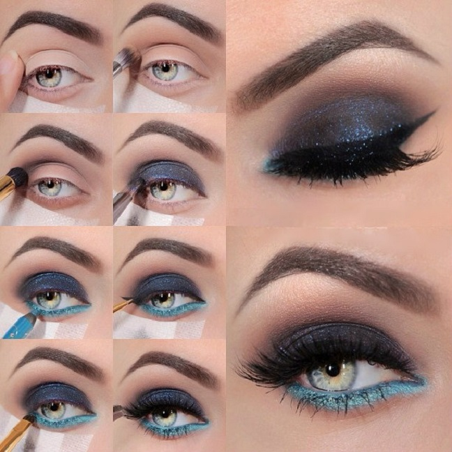 10 Step By Step Makeup Tutorials For Blue Eyes