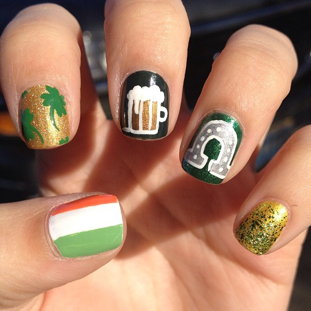 Interesting St. Patrick\'s Day Nail Designs That You Can Copy
