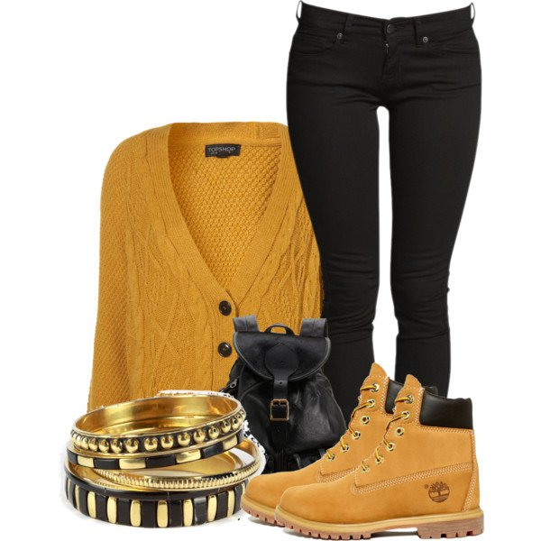 Comfortable Winter Outfit Ideas With Timberland Boots