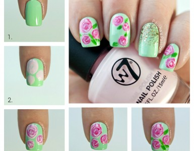 floral nail design to try this spring