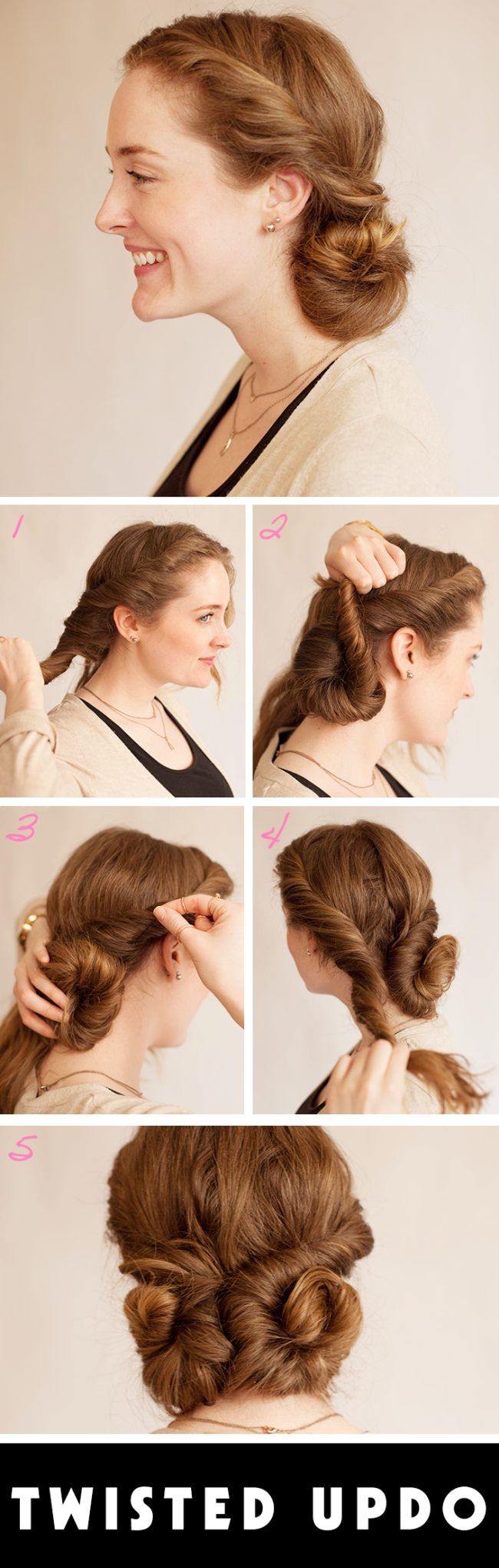 12 Great Step-by-Step Updo Hair Tutorials