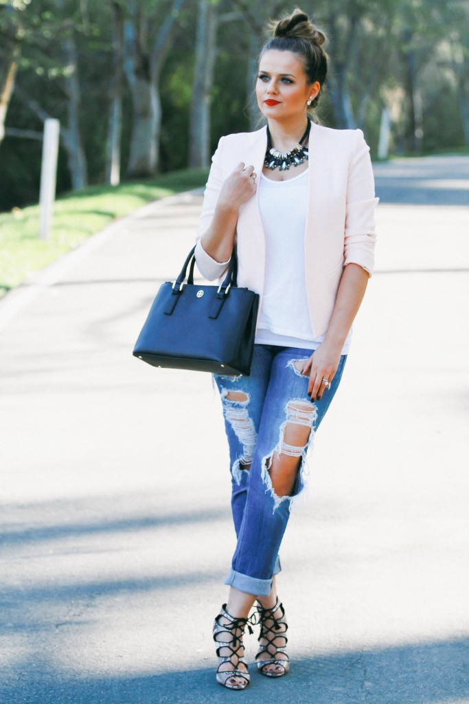 street style combos with ripped jeans
