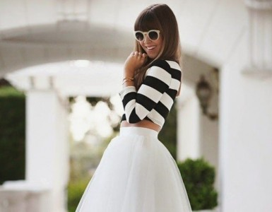 black and white outfit idea for spring time