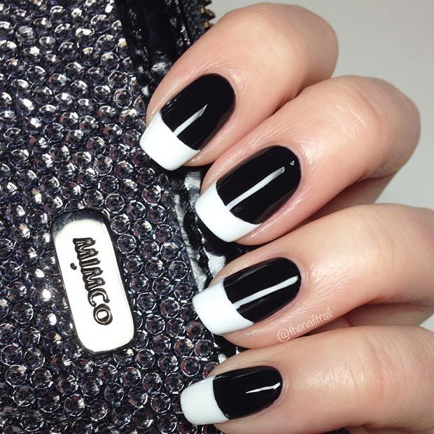Interesting Black And White Nail Designs