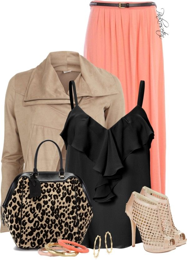 Wonderful Polyvore Combinations With Maxi Skirts