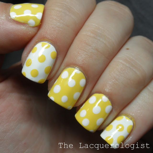 Fun Yellow Nail Designs For Sunny Days
