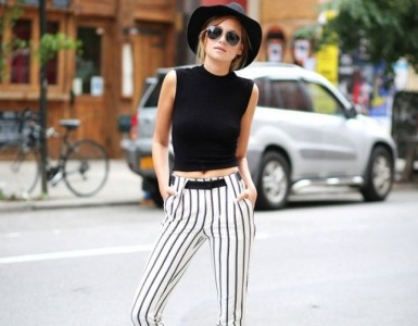vertical striped pants for longer legs