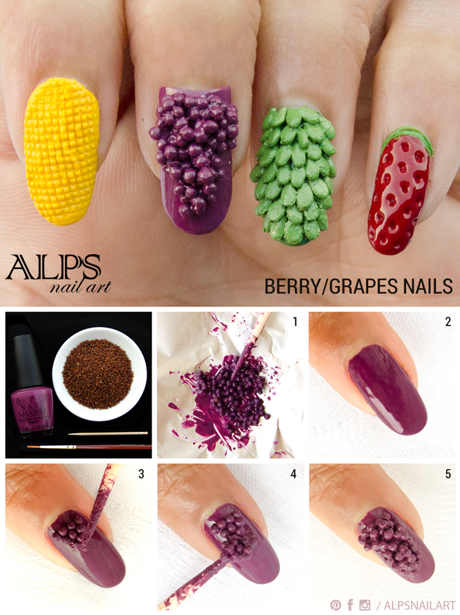 Super Easy Fruit Nail Tutorials To Try This Summer
