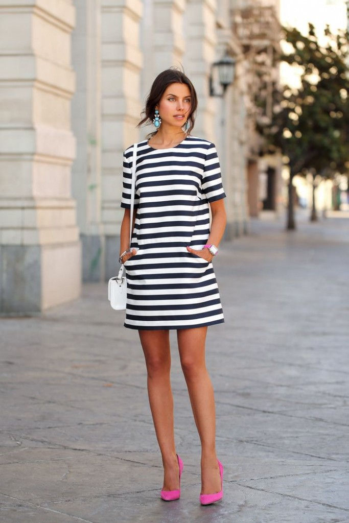 Great Outfit Looks With Striped Dresses
