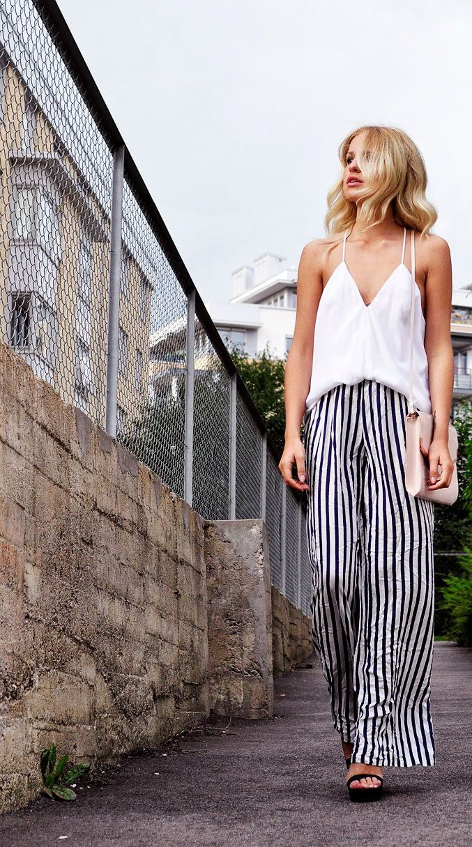 Wear Vertical Striped Pants To Make Your Legs Look Longer