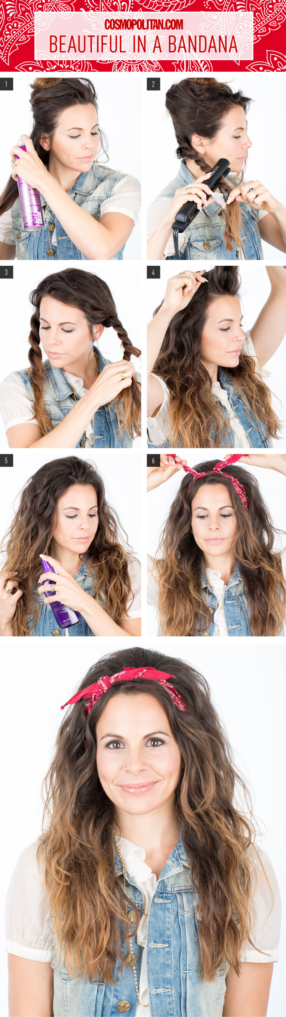 8 Easy Hair Tutorials With Bandana