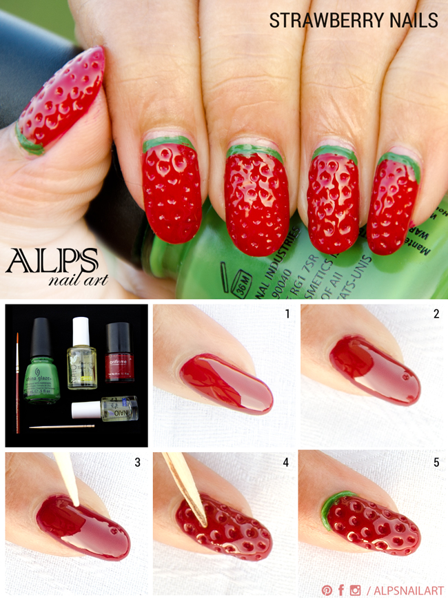 Fruit nail art designs step by step fruit art designs nail to make easy nail designs step by view images super easy fruit prinsesfo Images