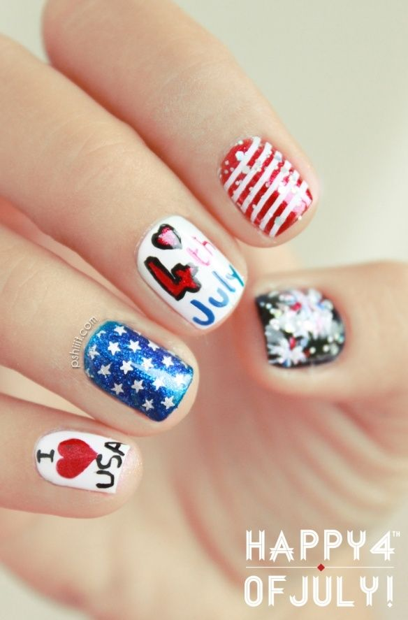 Fun 4th july nail designs to draw inspiration from photo via pshiiit prinsesfo Choice Image