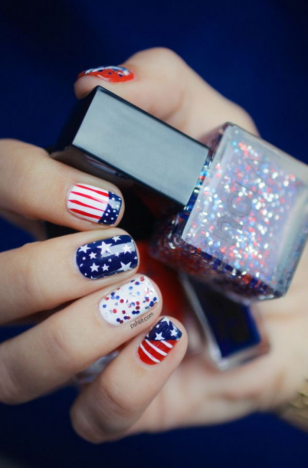 Fun 4th july nail designs to draw inspiration from photo via hative prinsesfo Gallery
