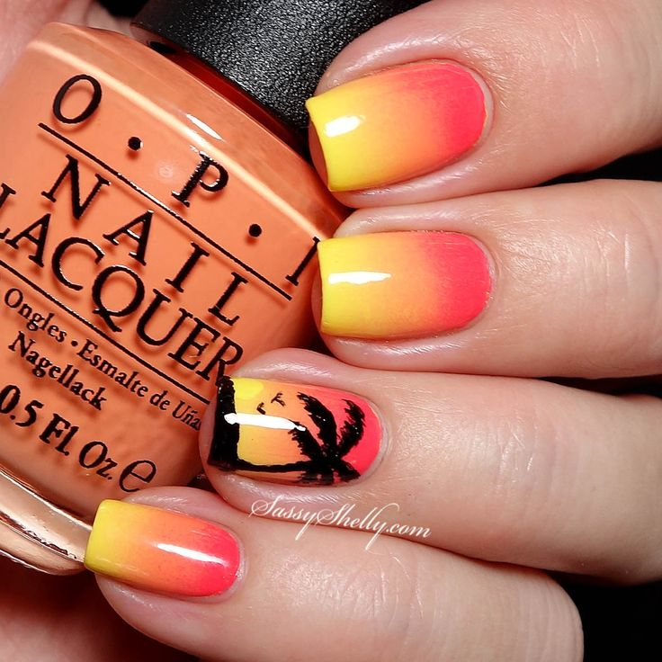 Summer Nail Designs Palm Tree | Splendid Wedding Company