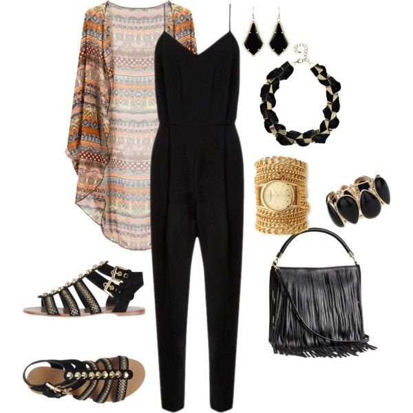 Comfortable Polyvore Combos With Flat Sandals