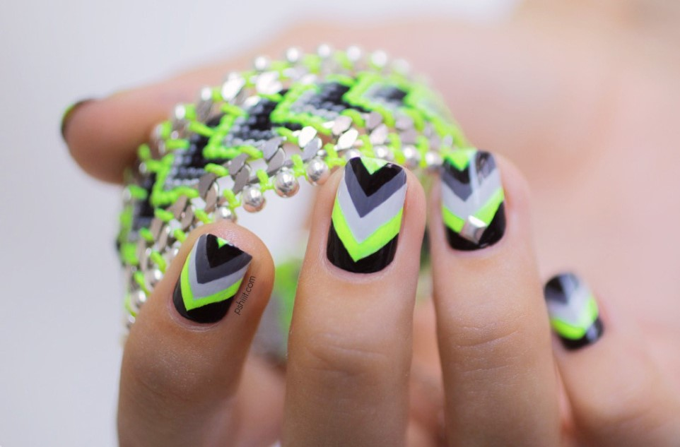 Nail Designs Neon Choice Image Easy Nail Designs For Beginners