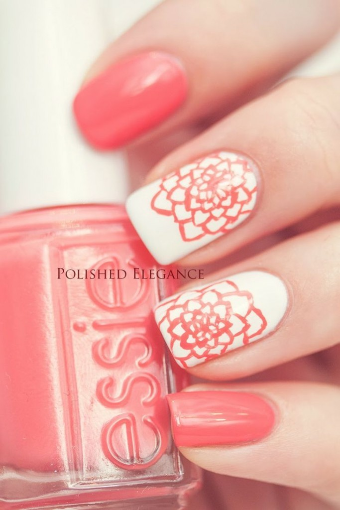 15 Coral Nail Designs To Draw Inspiration From