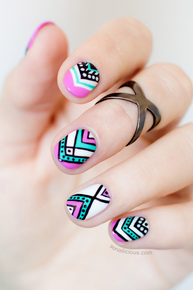 15 fun aztec nail designs prinsesfo Images
