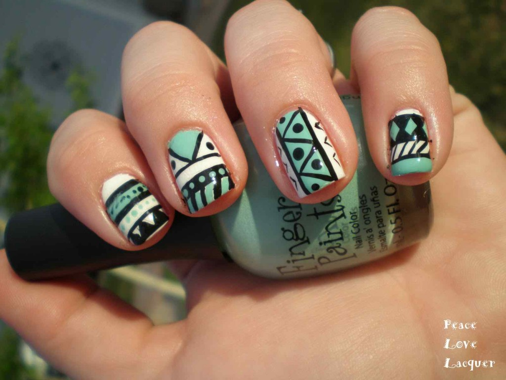 Photo via: lifenfashion.com - 15 Fun Aztec Nail Designs