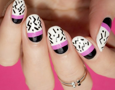 Pink-and-black-nails-2