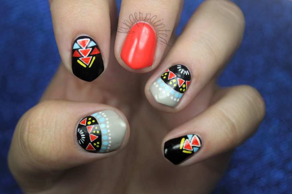 15 Fun Aztec Nail Designs