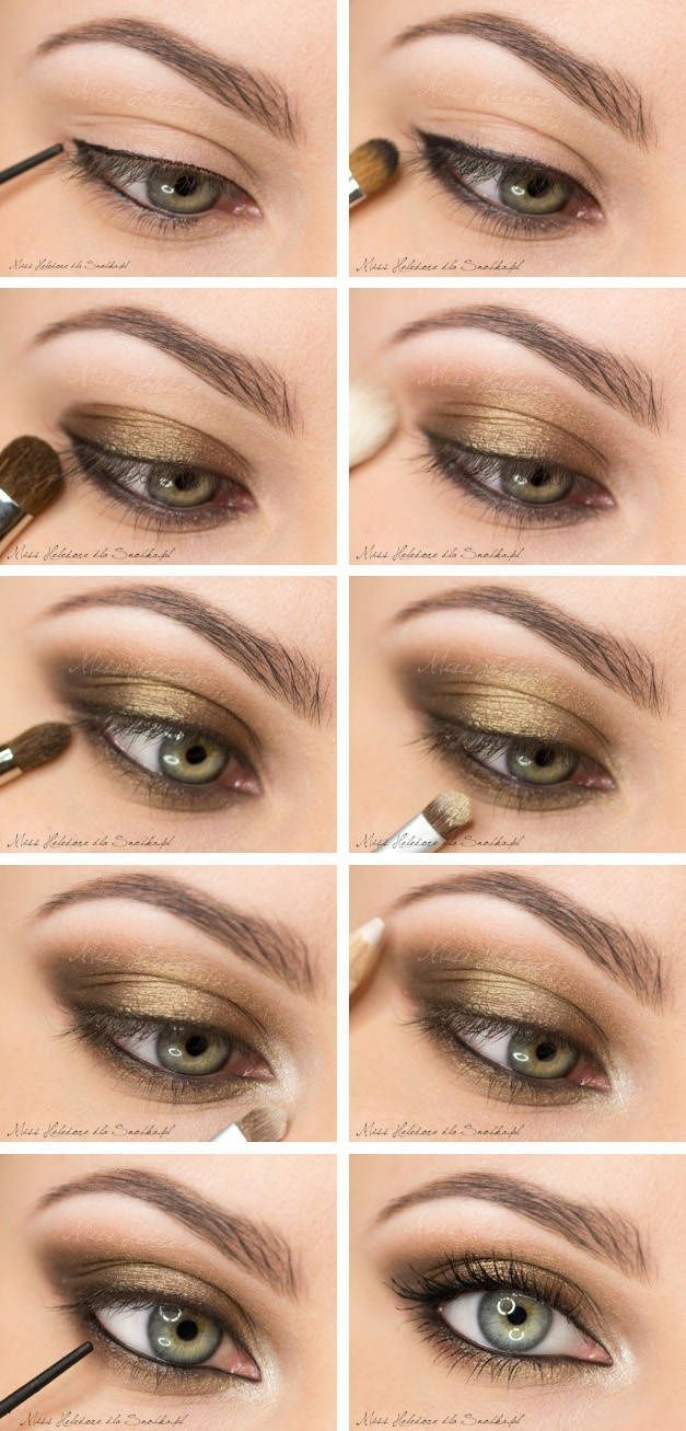 11 step by step makeup tutorials for the upcoming fall bronze eye makeup idea baditri Gallery