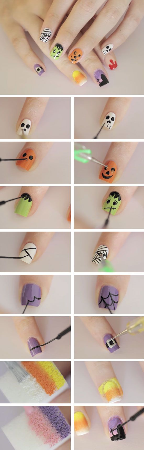 The Most Awesome Halloween Nail Tutorials You Have Ever Seen
