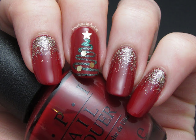 Abstract-Christmas-Tree-Nail-Art-11