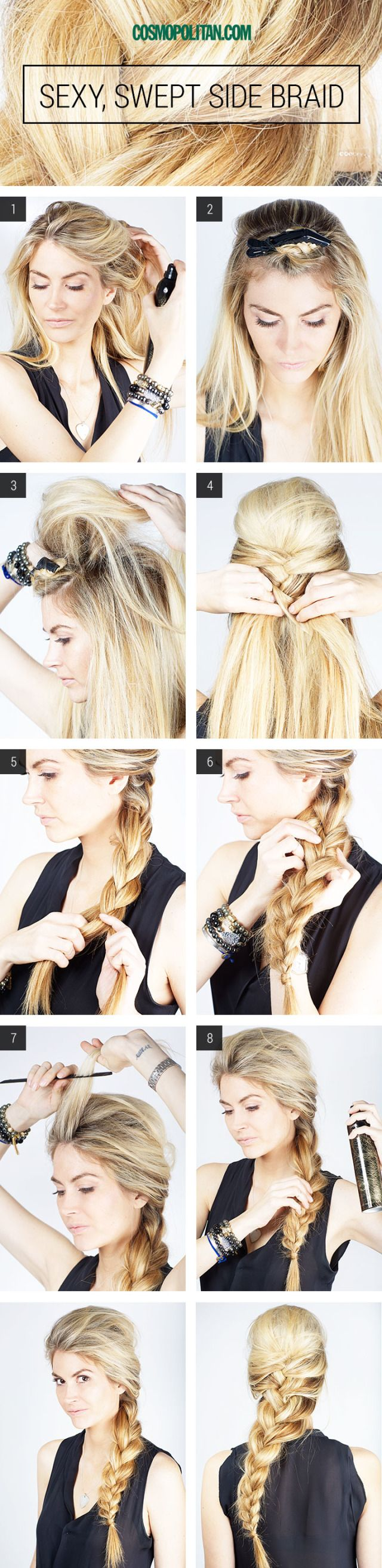 Sexy side swept braid