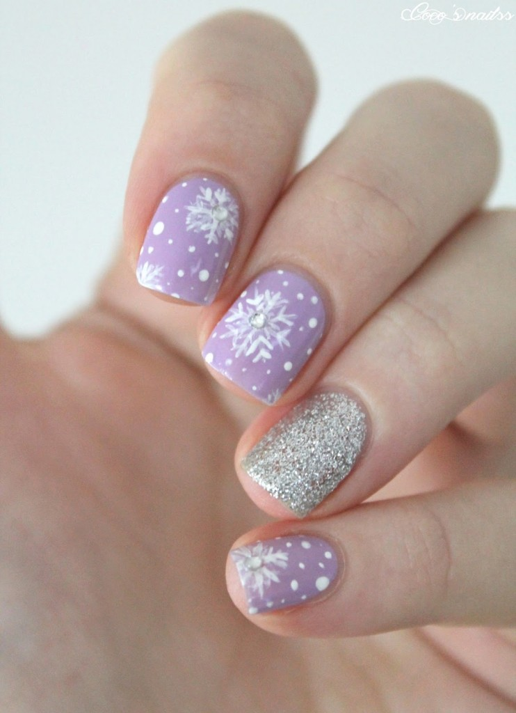 purple and silver nails