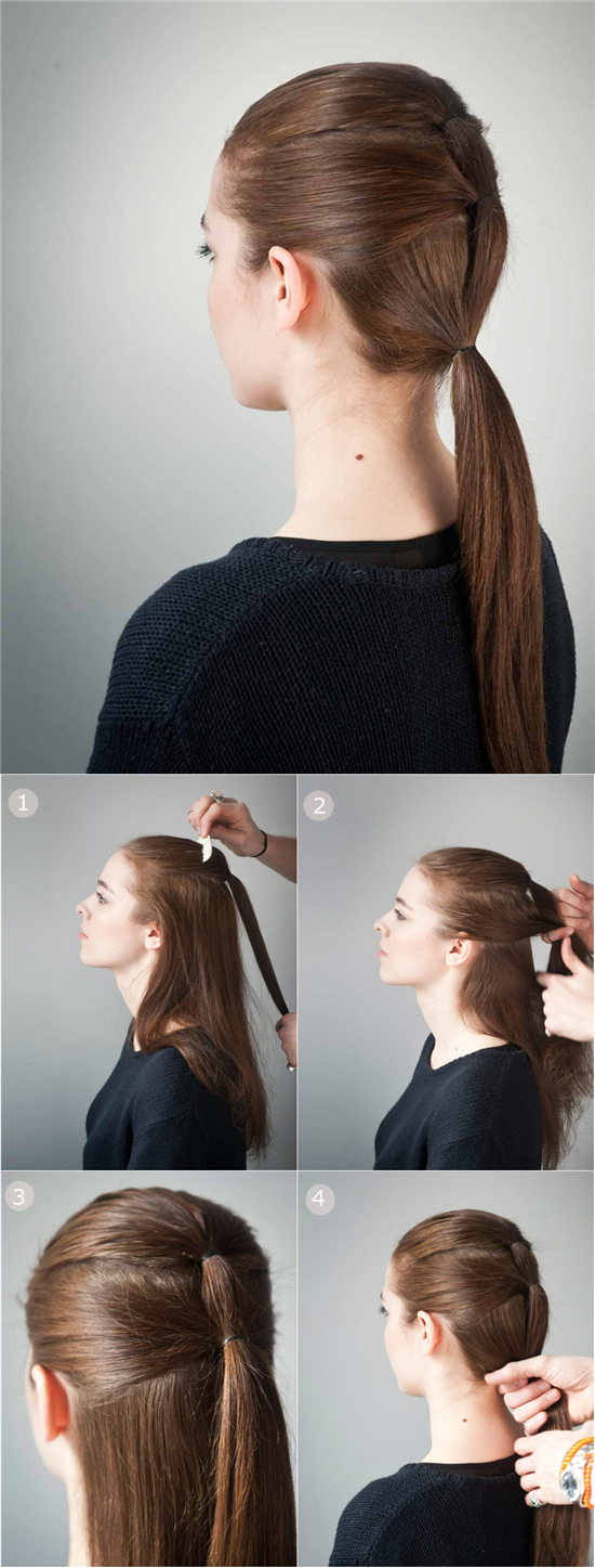 triple-ponytail-hairstyle-for-school-with-22-inch-brown-colored-great-hair-extension-for-short-hair