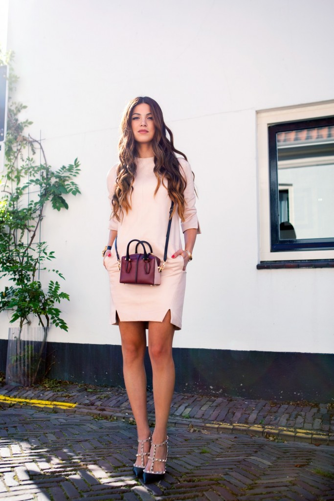 pale pink outfit