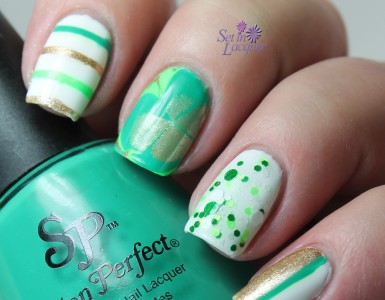 salon-perfect-st-patricks-day-nail-arts-stripes-glitter-marble