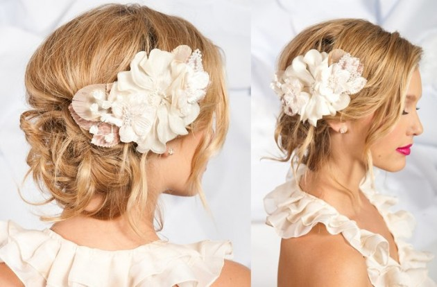 wedding hair flower clips 15 beautiful wedding hairstyles with accessories 9686