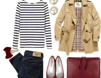 trench coat polyvore