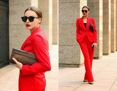 red suit for the office