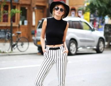 vertical striped pants for longer legs