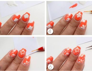 Hawaiian-nail-art-tutorial