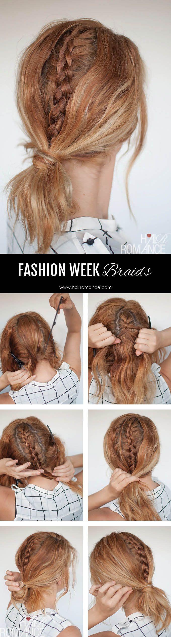 Fashion week braids