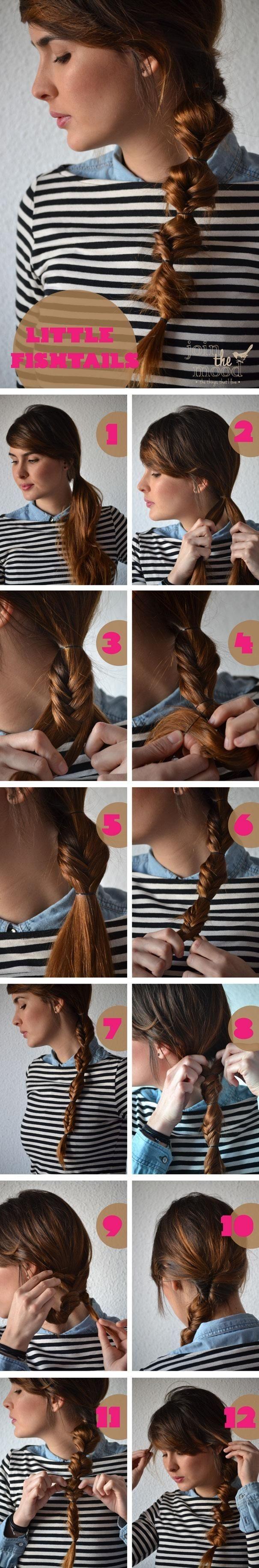 Ponytails-Hairstyles-Tutorials-Little-Fish-Ponytails