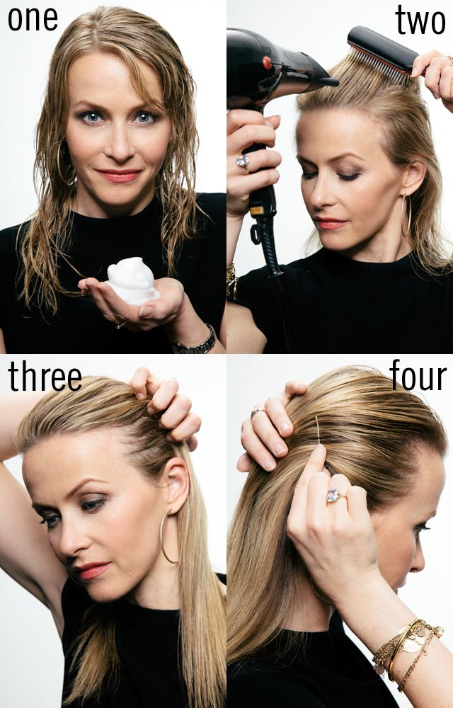 how to slicked-back hair