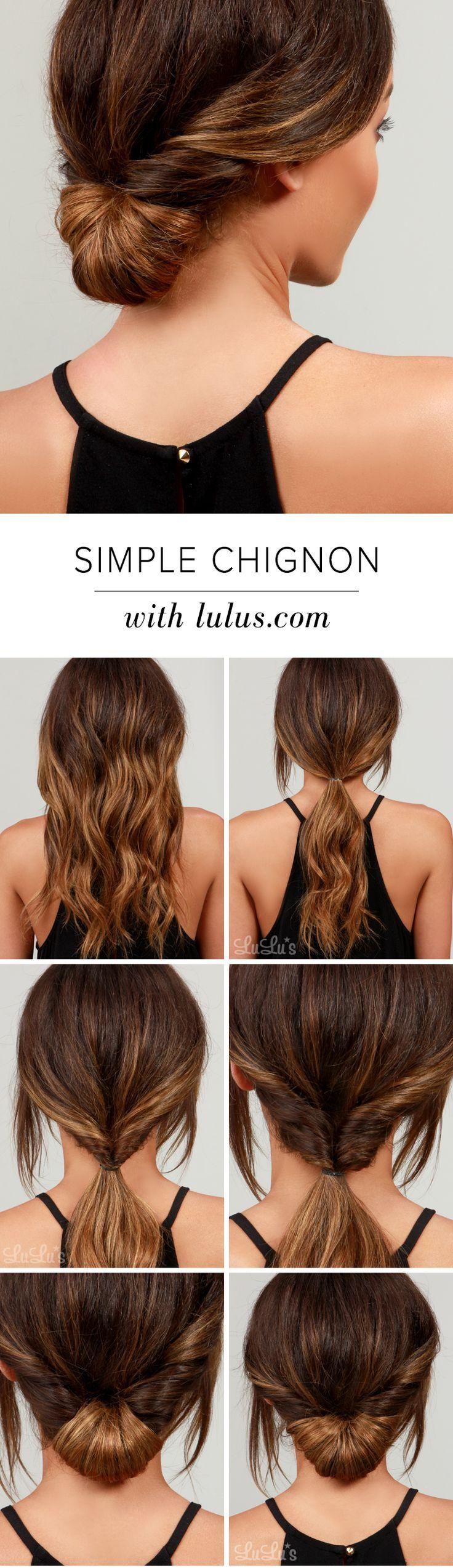 simple chignon tutorial