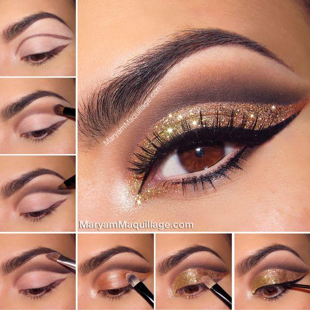 glitter smokey eye makeup