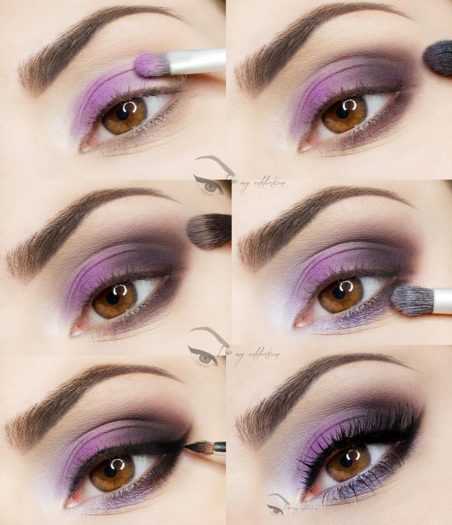 purple makeup tutorials