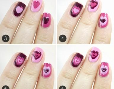 Valentine's Day nail tutorials
