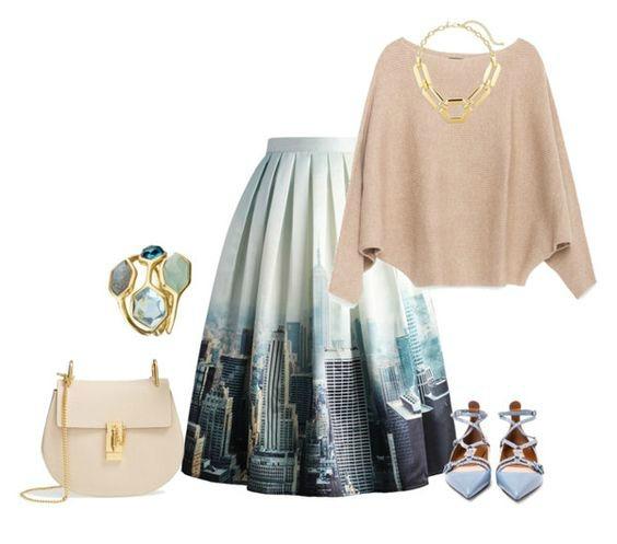 full pop art skirt