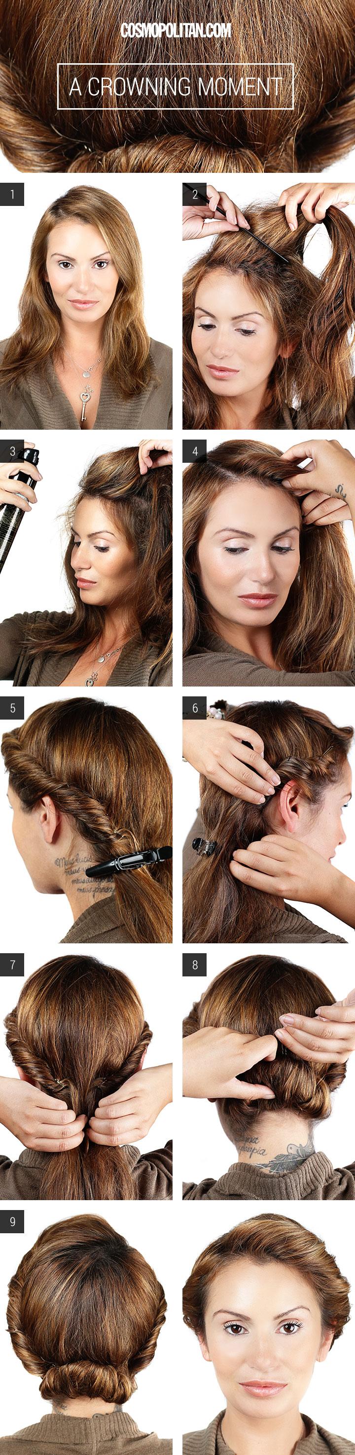 crown hair tutorial